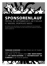 SPONSORENLAUF - FC Weesen