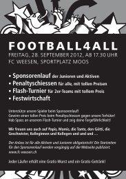 FOOTBALL4ALL - FC WEESEN seit 1961