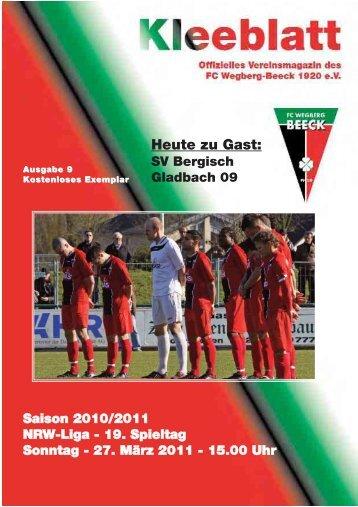 SV Bergisch Gladbach 09 - FC Wegberg-Beeck 1920 e.V.