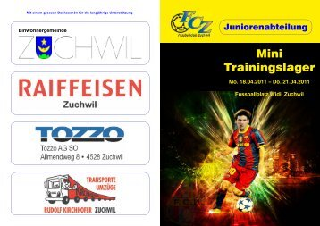 Programm Mini-Trainingslager 2011 - FC Zuchwil