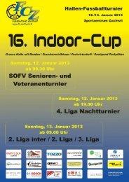 Programm 16. Indoor-Cup 2013 - FC Zuchwil