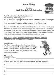 Anmeldung - FC 09 Überlingen e.V.