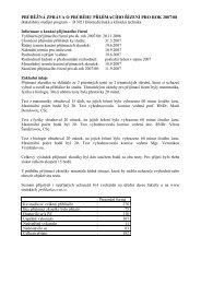 průběžná zpráva o průběhu přijímacího řízení pro rok 2007/08 - FBMI