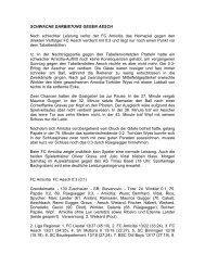 FCA-FC Aesch - FC Amicitia Riehen