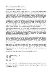 FCB Bonus Brachte die Entscheidung - FC Amicitia Riehen