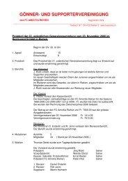 Protokoll - FC Amicitia Riehen