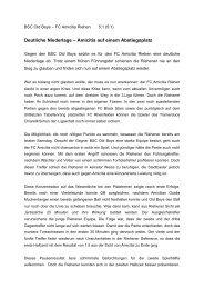 OB-FCA - FC Amicitia Riehen