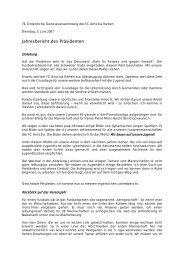 Jahresbericht des Präsidenten - FC Amicitia Riehen