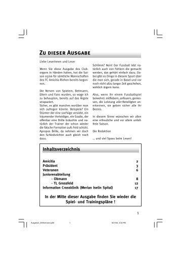 CO III 2005 - FC Amicitia Riehen