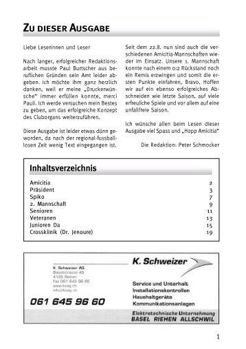 CO III 2006 - FC Amicitia Riehen