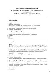 Protokoll Generalversammlung - FC Amicitia Riehen