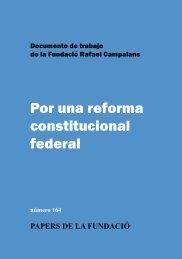 Por una reforma constitucional federal