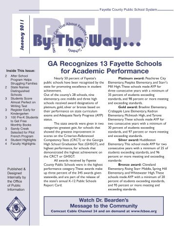 2011 January - Fayette County Schools
