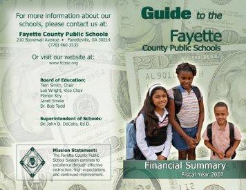 School Funding - Fayette County Schools