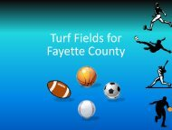 Turf Fields for Fayette County - Fayette County Schools