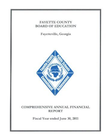 Comprehensive Annual Financial Report Ending June 2011