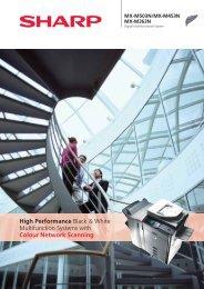 Sharp MX-M503N Brochure - Black & White Photocopiers