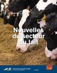 Nouvelles du secteur du lait - FCC-FAC