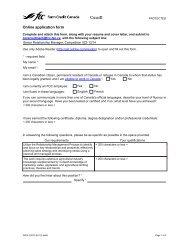 Online application form - FCC-FAC