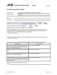 Formulaire de demande d'emploi - FCC-FAC