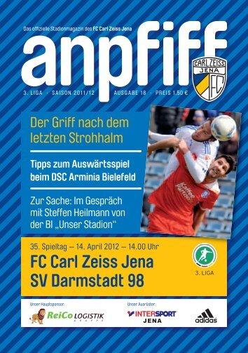 FC Carl Zeiss Jena SV Darmstadt 98