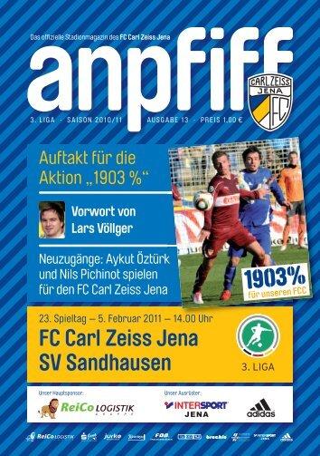 FC Carl Zeiss Jena SV Sandhausen - FCC-Wiki