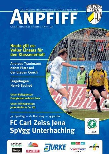 FC Carl Zeiss Jena SpVgg Unterhaching