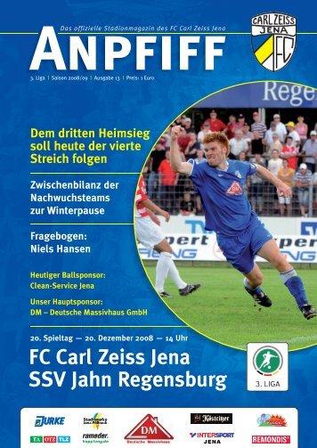 FC Carl Zeiss Jena SSV Jahn Regensburg