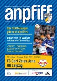 FC Carl Zeiss Jena RB Leipzig