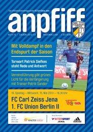 FC Carl Zeiss Jena 1. FC Union Berlin II