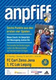 FC Carl Zeiss Jena 1. FC Lok Leipzig