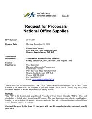 Request for Proposal - National Office Supplies - FCC-FAC