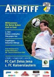 FC Carl Zeiss Jena 1. FC Kaiserslautern