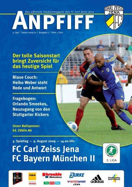Programm 2005//06 FC Carl Zeiss Jena Holstein Kiel