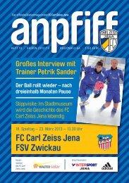FC Carl Zeiss Jena FSV Zwickau
