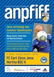 FC Carl Zeiss Jena Hertha BSC II