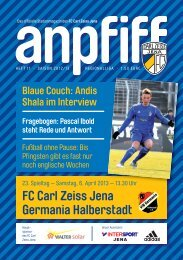 FC Carl Zeiss Jena Germania Halberstadt