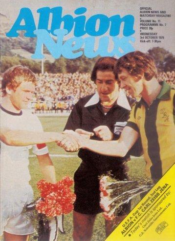Programmheft West Bromwich Albion - FC Carl Zeiss Jena (3.10.1979)