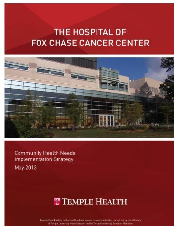 Fox Chase Cancer Center Community Implementation Strategy