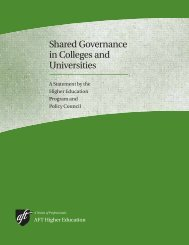 Shared Governance in Colleges and Universities - Faculty Council ...