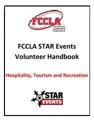 Hospitality, Tourism and Recreation - fccla