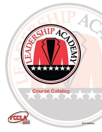 Leadership Academy Course Catalog - fccla