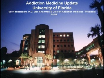 Addiction Medicine Update University of Florida - Florida Partners in ...