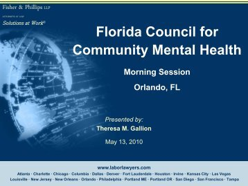 Afternoon Session - Florida Council for Community Mental Health
