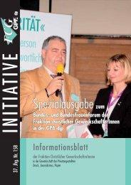 Nr. 158 Spezialausgabe Bundesforum (862 KB ... - FCG-GPA-DJP