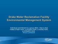 1 Drake Water Reclamation Facility Environmental Management ...