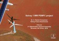 Solvay 1 MW PEMFC project - FCH JU