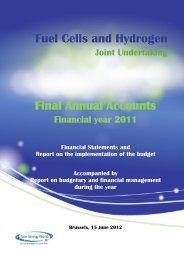 FCH JU Final annual accounts 2011