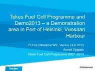 Demo 2013 project - FCH JU