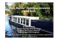 """""""Ross Barlow"""" Hydrogen-powered Canal Boat - FCH JU"""